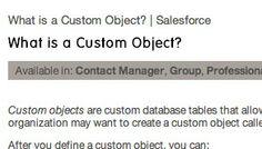 Custom object