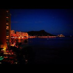 Waikiki Beach Night View
