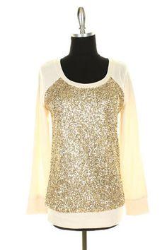 Sequin Sweatshirt - Ivory