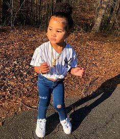 I ain't talkin' Nike when I'm talkin' about a check ✅🔥💸👑 SHOP the LOOK❗️- Nike jacket, earrings, watch & name necklace: USE… Cute Little Girls Outfits, Cute Baby Girl Outfits, Kids Outfits Girls, Toddler Girl Outfits, Cute Baby Clothes, Little Boy Swag, Fashion Kids, Baby Girl Fashion, Toddler Fashion