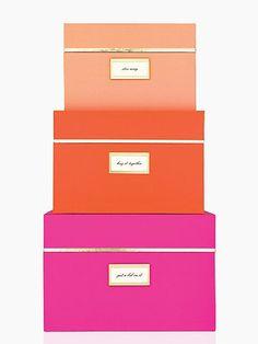 storage box set - Kate Spade New York