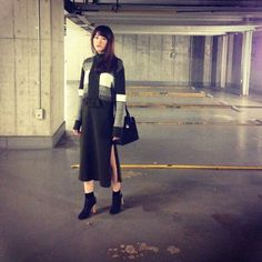 Mirei Kiritani, dress:mame bag:RADLEY