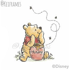 Drawing Disney Quotes Winnie The Pooh - Discover Ideas Winnie The Pooh Tattoos, Winnie The Pooh Drawing, Cute Winnie The Pooh, Winne The Pooh, Winnie The Pooh Quotes, Winnie The Pooh Pictures, Eeyore Quotes, Disney Tattoos, Arte Do Harry Potter