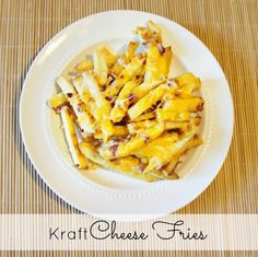 Extra Cheesy Cheese Fries #KraftHolidaySavings