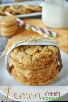 Lemon Crunch Cookies- made with crushed lemon #oreos #JELLO www.shugarysweets.com