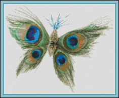 Peacock Butterfly - Counted Cross Stitch and Needle Point Chart Pattern. $18.00, via Etsy.