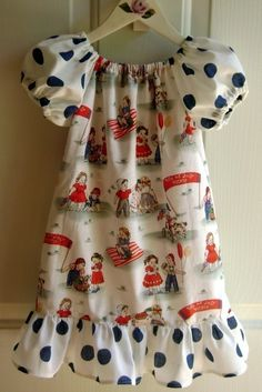 patriotic peasant dress - white.. i really gotta learn to sew before the end of the year...