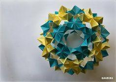 Origami wreath.