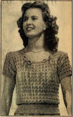 The Vintage Pattern Files  1940 s Vintage Crochet ac5209a16