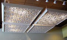 Bromeliad: Starbuck's lattice ceiling inspiration Fluorescent lighting covers
