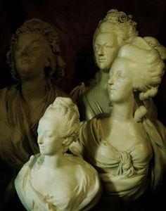 Busts of Marie Antoinette, Chateau de Versailles, France