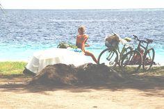 sunbathing. - Gili Air, Lombok, Indonesia, 2012