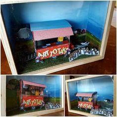 Ellen van Putten | Art To Take miniatuur Mobile Art, Kitchen Art, Lunch Box, Miniature, Author, Mini Things