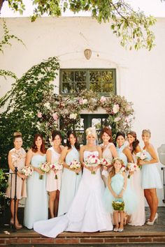 #Pastel #Bridesmaids … 'Wedding Guide' App ♥ Free for a limited time … https://itunes.apple.com/us/app/the-gold-wedding-planner/id498112599?ls=1=8  ♥ For more magical wedding ideas http://pinterest.com/groomsandbrides/boards/ ♥
