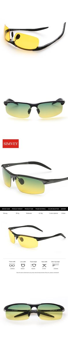 Simvey Men Night Driving Glasses Aluminum Alloy HD Night Vision Goggles Anti-glare Polarizer Sunglasses Car Drivers Glasses