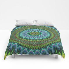 Mandala Comforter by David Zydd #designgift #bed #society6art #art