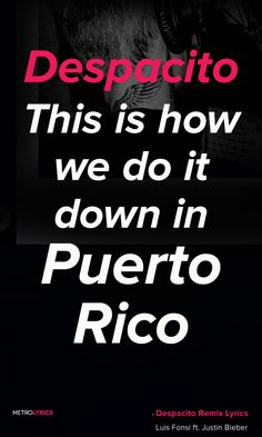 "Luis Fonsi, Daddy Yankee - Despacito (Audio) ft. Justin Bieber  Lyrics and Quotes Despacito This is how we do it down in Puerto Rico I just wanna hear you screaming, ""¡Ay, Bendito!"" I can move forever cuando esté contigo ¡Bailalo!  #LuisFonsi #DaddyYankee #DespacitoRemix #Despacito #JustinBieber #Quotes #lyricQuotes #music #lyrics"