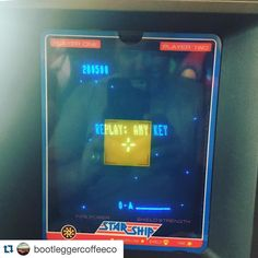 On instagram by nostalgiabox #vectrex #microhobbit (o) http://ift.tt/1QeGNAQ #Repost @bootleggercoffeeco  So on my day off I took a tribe of kids to @nostalgiabox .  First go on the  - bam!  High score!  Previous best was 64000.  Come at me bros. #bootleggercoffeeco #dayoffwellspent #perthretrogamer #highscore #kidscantbelievehowawesomeiam #longhashtags #videogames