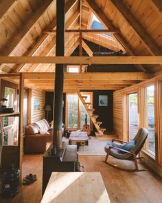 Tiny House Cabin, Tiny House Living, Tiny House Design, Cabin Homes, Tiny Cabin Plans, Small Cabin Designs, Small Modern Cabin, Modern Small House Design, Modern Cabins