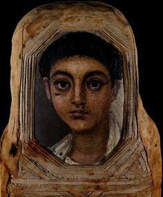 Fayum funeral Portrait (Egypt - Ier-IVè AD)