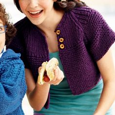 Un boléro en tricot // bolero, knit, purple