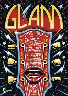 'Glam' Poster by Ian Jepson