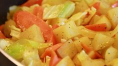 This Ethiopian dish is made with potatoes, cabbage, onion, and carrots.