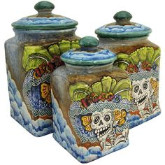 Square Day of the DeadKitchen Canister