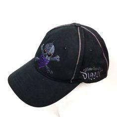 Monster-Jam-Skull-Adjustable-Cap-2012-Son-Uva-Digger-Black-Embroidered-Hat