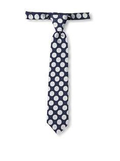 24% OFF Urban Sunday Kid's Navy/Silver Dot Neck Tie (Navy/White)