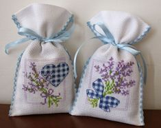 Lavender Bags, Lavender Sachets, Cross Stitch Books, Cross Stitch Rose, Cross Stitch Designs, Cross Stitch Patterns, Cross Stitching, Cross Stitch Embroidery, Sachet Bags