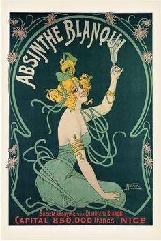 Nouer Absinthe Blanqui Art Poster Print  Absinthe in Vintage Poster Art on Squidoo