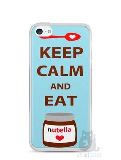 Capa Iphone 5C Keep Calm and Eat Nutella - SmartCases - Acessórios para celulares e tablets :)