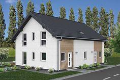 Funktionalität trifft auf tolles Design Wohnkomfort  auf zwei Ebenen - die beiden ungleichen Wohnungen sind jeweils auf beide Etagen verteilt. Die erste Wohnung bietet Platz für 2 Kinderzimmer, ein großes Badezimmer, das elterliche Schlafzimmer, sowie ein Gäste-WC und einen großen Wohn- und Essbereich mit einer Küche. In der zweiten Wohnungen befindet  sich ebenfalls ein großer Wohn-, Koch- und Essbereich. Im Dachgeschoss ist Platz für ein großes Schlafzimmer und ein geräumiges Schlafzimmer… Garage Doors, Shed, Outdoor Structures, Mansions, House Styles, Outdoor Decor, Home Decor, Large Bedroom, Master Bathrooms