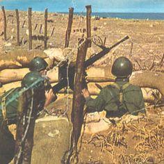 Italian Breda anti-aircraft gun in libya 1942.Rare colored photo ! #ww2, pin by Paolo Marzioli