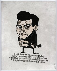 """dwellephant.com - Stuff more formally known as """"commercial work.""""  Johnny Cash Man in Black @dwellephant"""