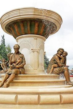 #Macedonia - Mother Olimpia and Aleksandar of Macedonia in Skopje Macedonia