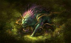 Mythical creatures, forest creatures, weird creatures, fantasy creatures, f Forest Creatures, Weird Creatures, Magical Creatures, Fantasy Creatures, Music Celtic, Fantasy World, Fantasy Art, Fantasy Paintings, Meditation Musik