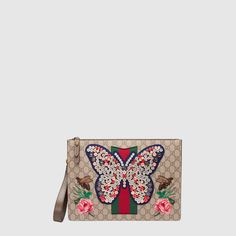 Gucci GG Supreme men's bag with butterfly