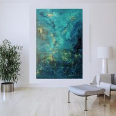 Ivana Olbricht | Slovak abstract artist Blue Abstract Painting, Fade Out, Different Light, Shades Of Blue, Primary Colors, Artist, Artists