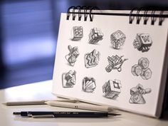 Beautiful Hand-Made Sketches Of App Icons Before They Are Digitalized - DesignTAXI.com