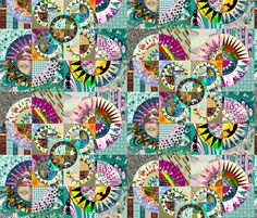 New_York_Beauty_design_4 fabric by art_on_fabric on Spoonflower - custom fabric ~ ALSO entered into PRINT ME PRETTY's GEOMETRIC CONTEST on NOW 12th Sept to the 16th Sept!! https://www.facebook.com/PrintmePretty1  JUST LIKE it to VOTE :-) Thanks !! :-)