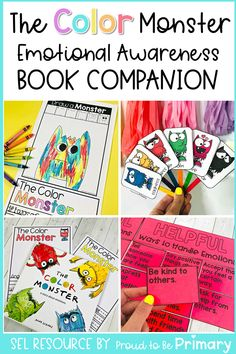 This emotional awareness book companion resource for kindergarten, first grade, and second grade teachers covers popular children's books on feelings and emotions, including The Color Monster. Build literacy skills and foster a love of books with each story. Have classroom discussions, create an anchor chart, write, and participate fun activities (printable + digital) that teach emotional skills. Great for distance and remote teaching! #childrensbooks #emotions #socialemotionallearning Social Emotional Activities, Social Emotional Development, Teaching Activities, Learning Resources, Teacher Resources, Teaching Ideas, Feelings Book, Feelings And Emotions, Classroom Images