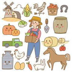 Find Farmer Farming Equipment Kawaii Doodles stock images in HD and millions of other royalty-free stock photos, illustrations and vectors in the Shutterstock collection. Kawaii Doodles, Cute Doodles, Recipe Drawing, Cute Animal Drawings Kawaii, Simple Doodles, Book Projects, Cute Cartoon Wallpapers, Cute Icons, Cute Illustration