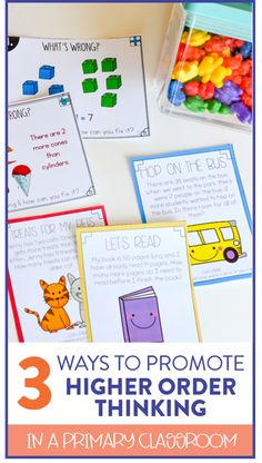 Looking for some ways to promote higher order thinking in your first and second grade classrooms?! This blog post has 3 easy-to-implement ways to help students stretch their thinking!