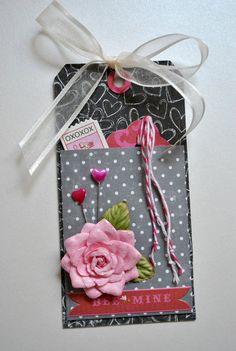 Valentines Pocket Hang Tag by SoScrappyHappy on Etsy, $4.15