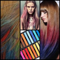 Temporary Magic Hair Chalk Set Including Assorted Colors- Works On All Hair Types (24) *** You can find more details by visiting the image link.