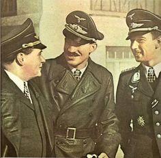 From left to right: Ernst Udet, Adolf Galland and Werner Mölders