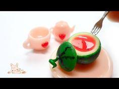 미니어쳐 통 수박젤리 만들기 - miniature watermelon jelly - YouTube