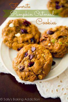 Favorite Pumpkin Oatmeal Cookies.